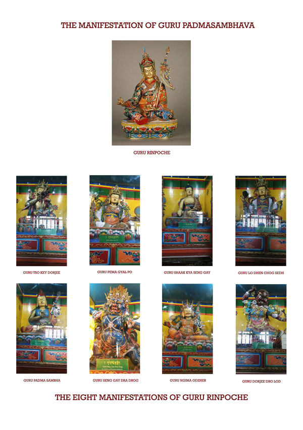 THE EIGHT MANIFESTATIONS OF GURU RINPOCHE